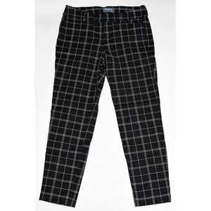 NWOT Old Navy Pixie Black Windowpane Ankle Pants